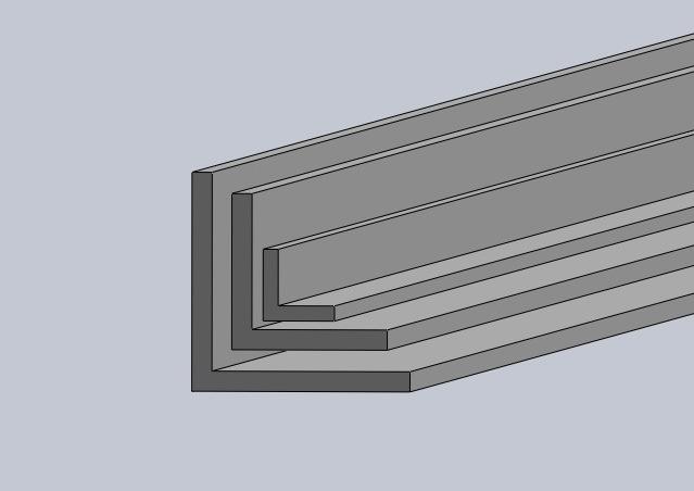 aluminium l profil carbix. Black Bedroom Furniture Sets. Home Design Ideas