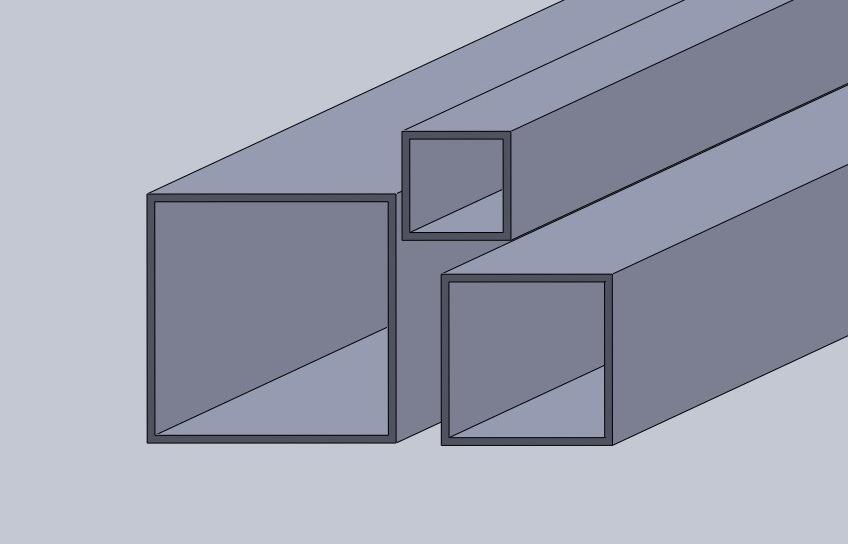 Fyrkantsrör aluminium knutar
