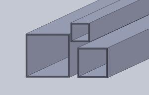 Aluminium Fyrkantsrör