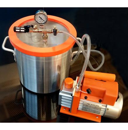 Degasingpaket, vakuumpump 3 och vakuumkammare 11,3l