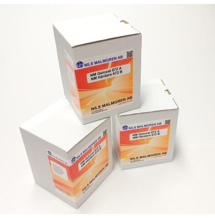 NM Gelcoat 672 / Svart värmebeständig epoxigelcoat för formar 0,54kg