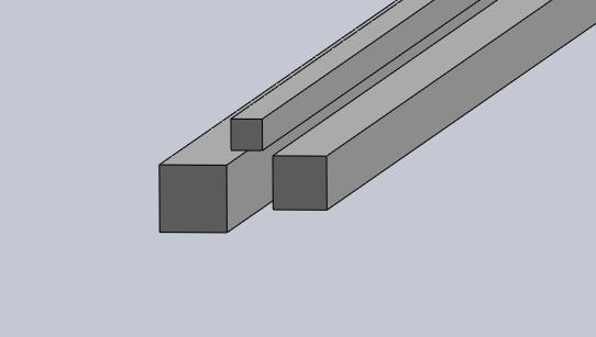 Fyrkantstång aluminium